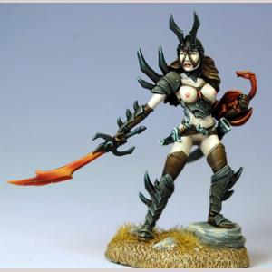 Naughty Fem. Anti-Paladin w/ Pseudo Dragon (CMON Ltd Ed)