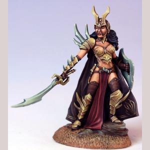 Female Anti-Paladin with Sword and Shield