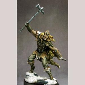 Male Barbarian with Warhammer