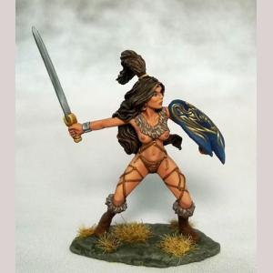 Amazon Warrior with Sword and Shield