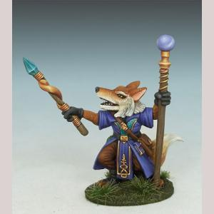 Fox Shaman with Staff and Wand