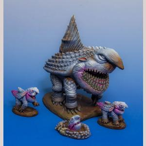 Adult Land Shark and Pups x 3 (Resin & Pewter Kit)