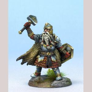 Male Dwarven Cleric with Warhammer