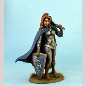 Female Warrior/Cleric with Weapon Options x3