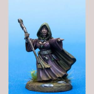 Female Halfling Mage with Staff