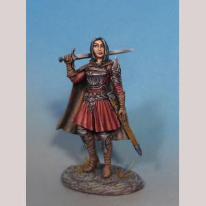 Female Warrior with Long Sword