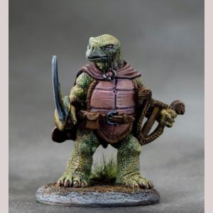 Tortoise Bard with Lyre and Sword