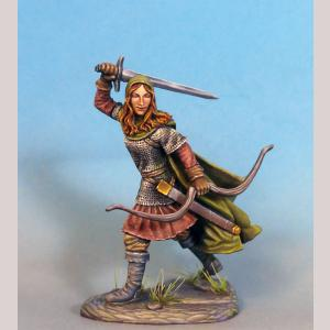 Female Ranger with Bow and Sword
