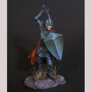 Male Warrior with Sword and Shield