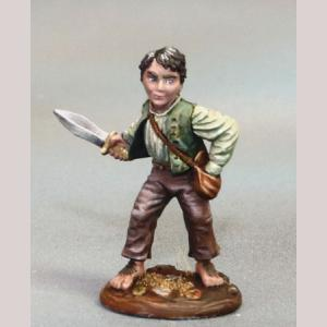 Halfling Rogue with Dagger