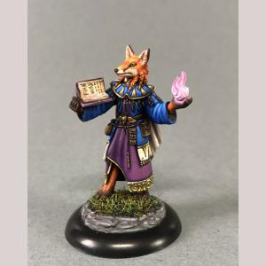 Kitsune Mage with Spell Book