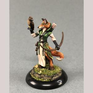 Female Kitsune Ranger with Bow and Falcon