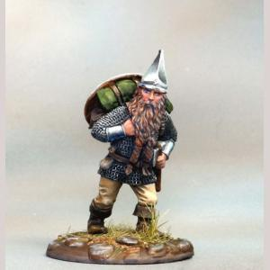 Marching Male Dwarven Warrior