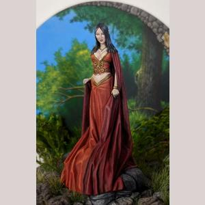 Female Elven Mage with Flowing Robes